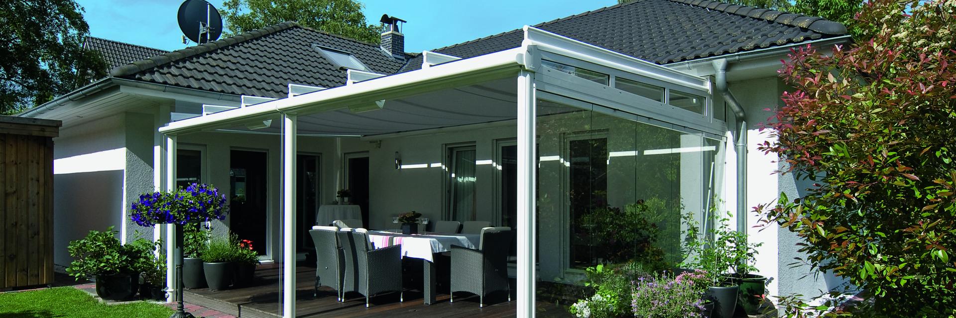 Terrassendach mit Glasfüllung