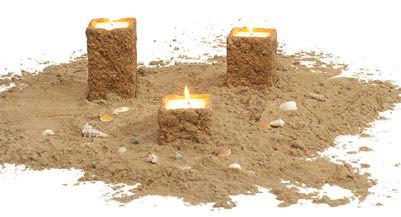 Ancona Kerzen im Sand