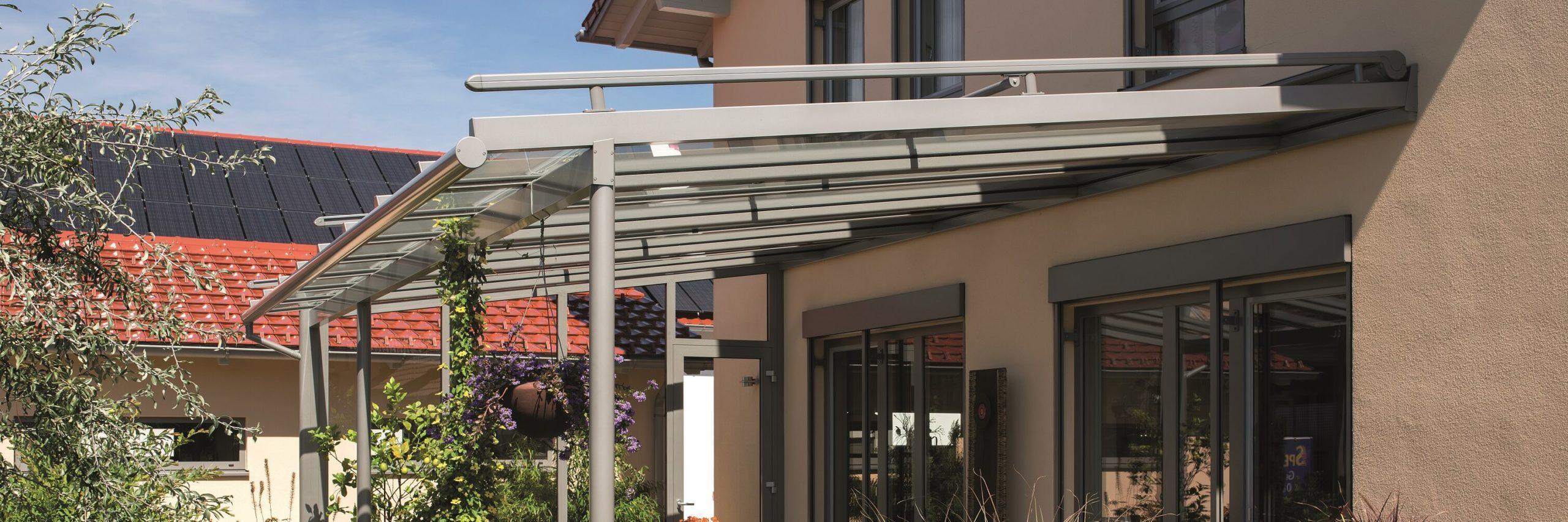 Terrassendach mit Dachüberstand